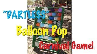 Safer Than Balloon Darts! Try Dartless Balloon Pop Carnival Game