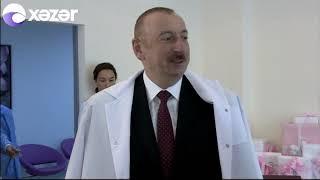 Prezident və xanımı 10 milyonuncu sakinin valideynləri ilə görüşdü