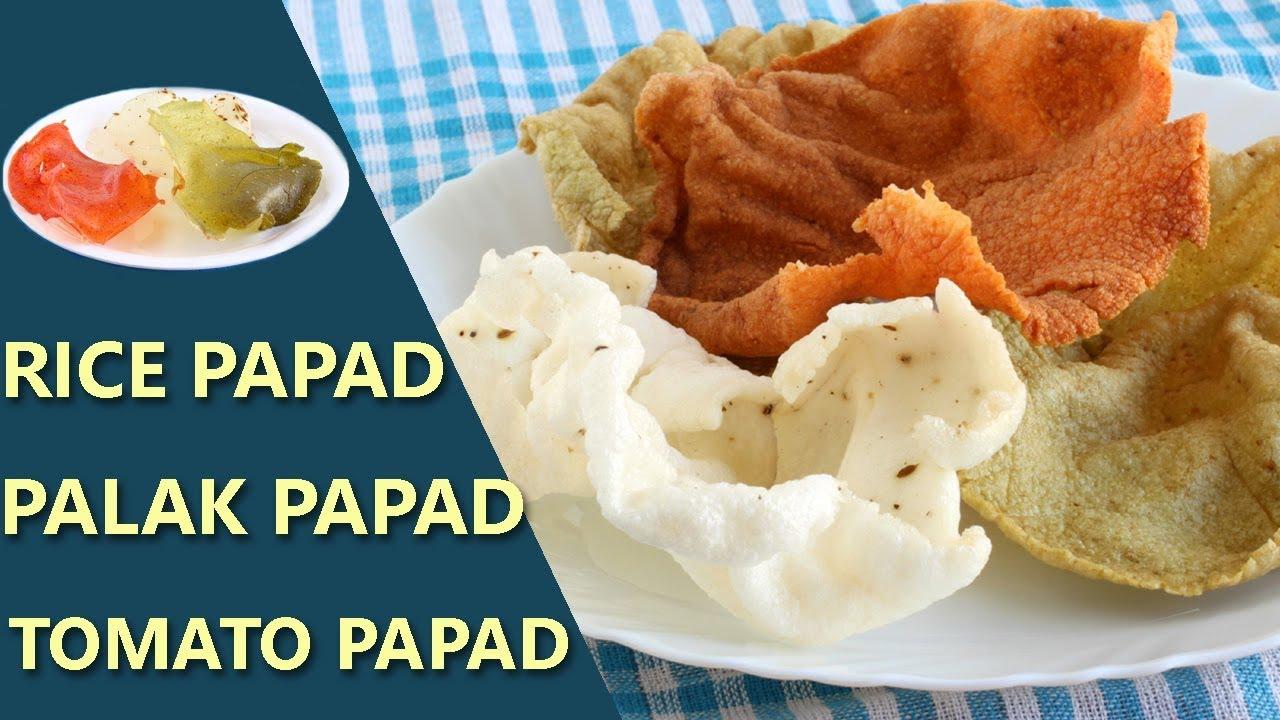 Rice Papad   Chawal ke Papad   Palak Papad   Tomato Papad