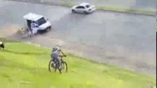 Girl gets hit by car on bike *Fail*