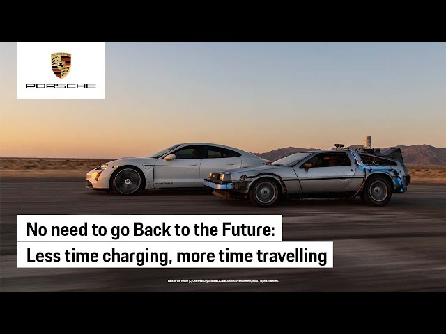 The Porsche Taycan x Back to the Future