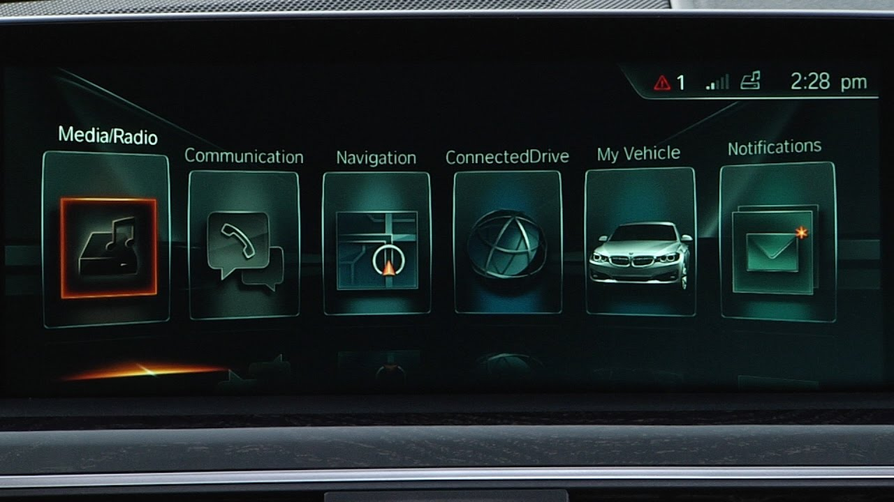 Bmw Idrive Display Overview Youtube