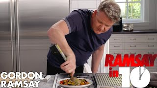Gordon Ramsay Cooks Mediterranean Sea Bass in Under 10 Minutes | Ramsay in 10
