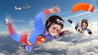 KIDS GO SKYDIVING BEFORE BACK TO SCHOOL!