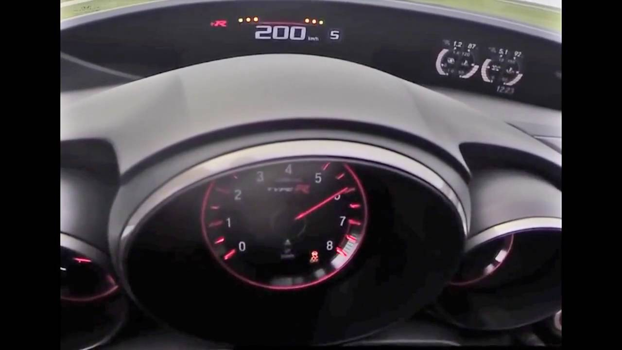 Top 2017 new honda civic type r test speed 0 220 km h for Honda civic 2016 top speed