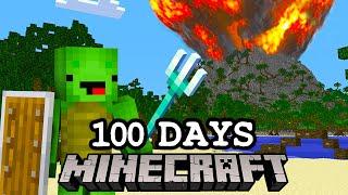 100日後に大噴火する島で本気サバイバルした結果!?【まいくら・マインクラフト】