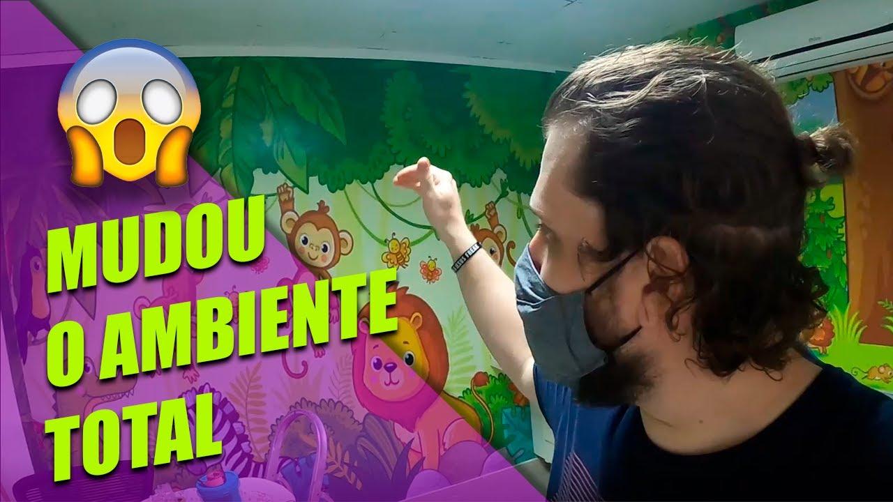 APLIQUEI UM PAPEL DE PAREDE EM ADESIVO, MUDOU TODO O AMBIENTE!