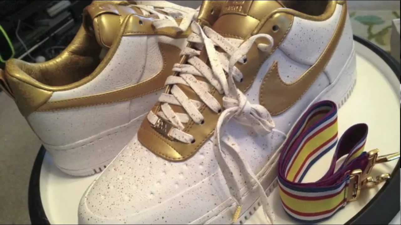 uk availability 6f5fa 12123 Nike Air Force 1 Low Supreme I O TZ XXX - Hero One (Gold Medal) - White    Metallic Gold colorway - YouTube