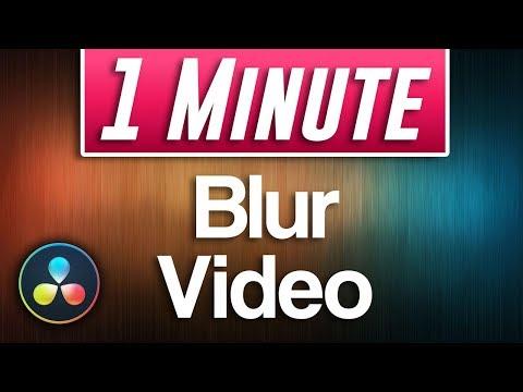 Davinci Resolve : How To Blur Video Footage