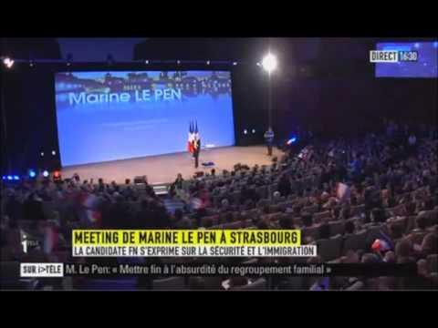 Marine Le Pen : Meeting à Strasbourg (12 février 2012)