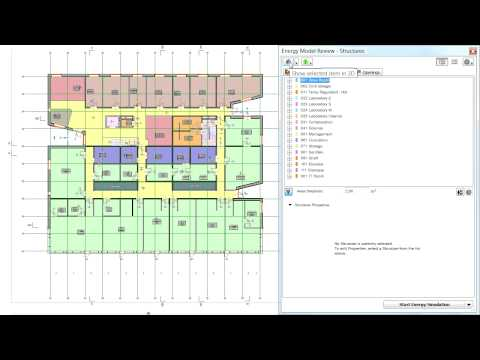 Structures list in ARCHICAD's Energy Model: List and tree views properties and interactions