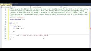 C++ program: Converting Binary to Decimal screenshot 5