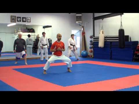 Karate Training Kihon Kata Kumite