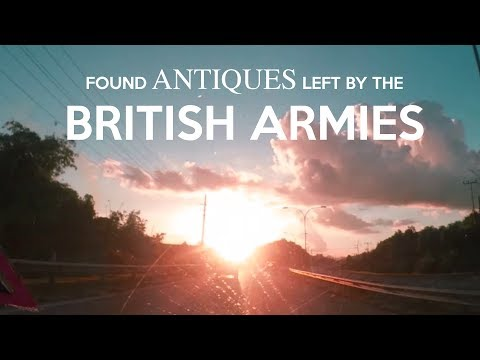 Found some ANTIQUES left by the British Armies! | Vlog