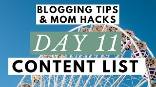 Writing a Blog Post Ideas List with a Title Generator ● Blogging Tips & Mom Hacks Series DAY 11