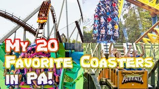 The 20 Best Roller Coasters in Pennsylvania I've Ridden! (2020)