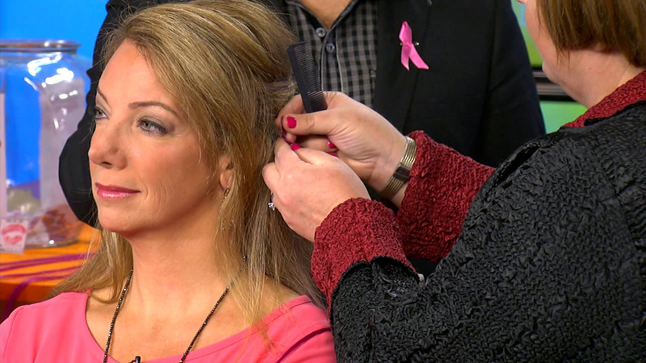 Pink Hair Extensions for Breast Cancer Awareness - YouTube