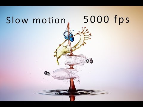 Download Youtube: Liquid Art - Wassertropfen Slow Motion 5000 fps !