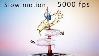 Liquid Art - Wassertropfen Slow Motion 5000 fps !