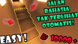 BIKIN Jalan RAHASIA TAK TERLIHAT DI BAWAH TANGGA! - Final FULL REDSTONE Minecraft Indonesia #17