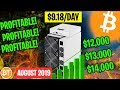 IS BITCOIN (BTC) MINING WORTH IT AUGUST 2019 -💸PROFITABLE ...