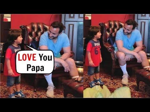 Taimur Ali Khan CUTE Video With Dad Saif Ali Khan Mp3