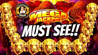 MY BIGGEST JACKPOT EVER on Buffalo Gold MUST SEE