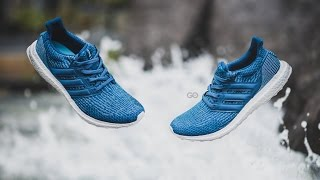 Review On Feet Adidas Ultra Boost Parley Night Navy Intense Blue Youtube