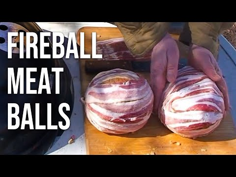 How to Grill Fireball Meatballs   Recipe