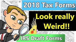 Preview of 2018 Federal Income Tax Forms and  Changes (2018  IRS Federal Income Tax Forms)