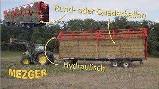 Ursus Ballenwagen m. Hydr. Ladungssicherung - MEZGER Landtechnik