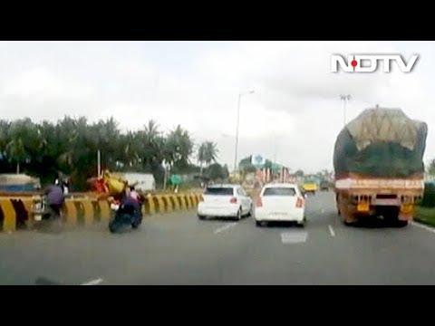 Dash-Cam Captures Bengaluru Bike Accident, Child's Mind-Boggling Escape