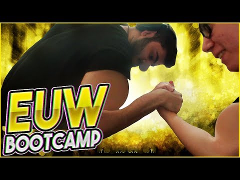 Moe vs TF Blade Arm Wrestle | YASSUO, TF BLADE, IWD, LL Stylish - EU BOOTCAMP: DAY 1