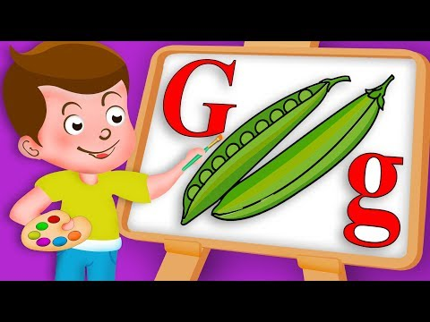 Drawing Alphabet G Letter | Green bean Vegetable Drawing Paint And Colour For Kids | Kids Drawing TV
