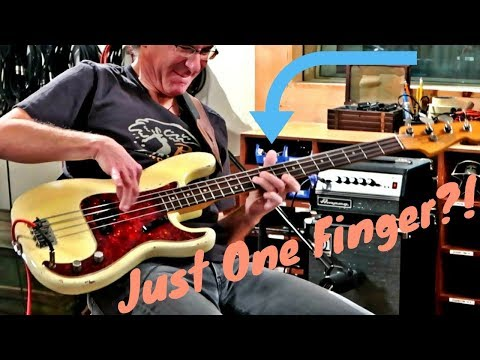 Download Youtube: ONE FINGER (on his fretting hand) and THIS FUNKY?