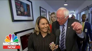 Bernie Sanders Brushes Off Staffing Shake-Ups, Confident About Polling | NBC News Now