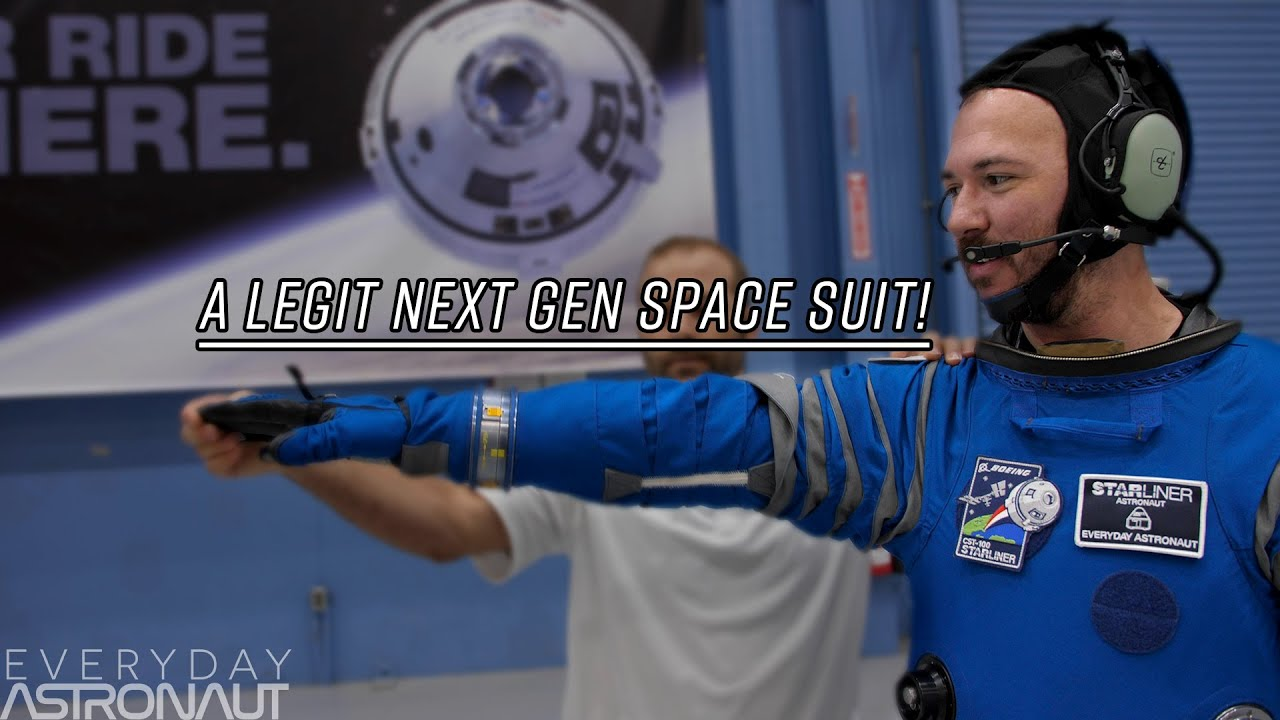 What it's like to wear Boeing's Space Suit - YouTube