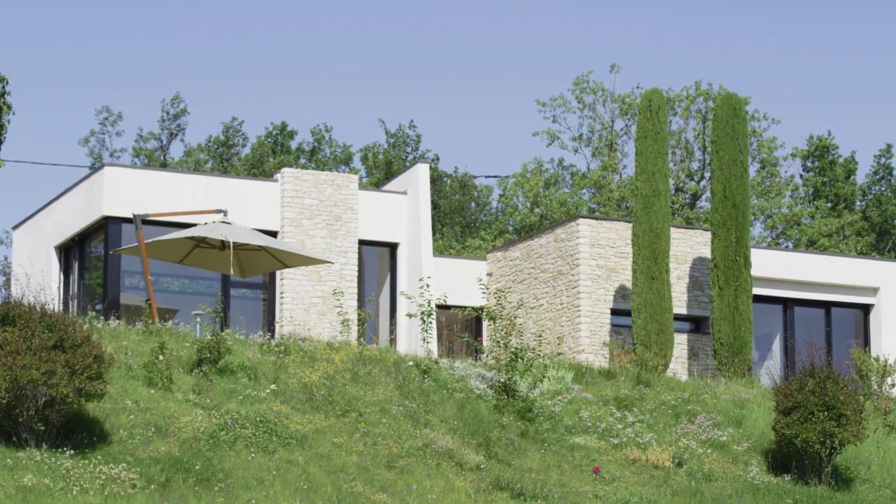 Maison d\'Architectes / Maison contemporaine dans la Drôme - YouTube