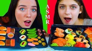 ASMR CANDY SUSHI VS REAL SUSHI CHALLENGE | EATING SOUNDS LILIBU