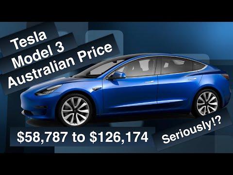 Predicted Australian Model 3 Price (late Feb 2019)