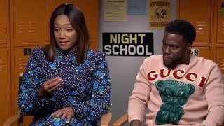 Tiffany Haddish amp Kevin Hart   Night School Interview 2018