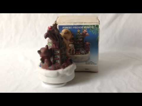 Forest friends rotating musical figurine