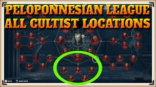 Assassin's Creed Odyssey All PELOPONNESIAN LEAGUE Cultist Locations - One Head Down Trophy