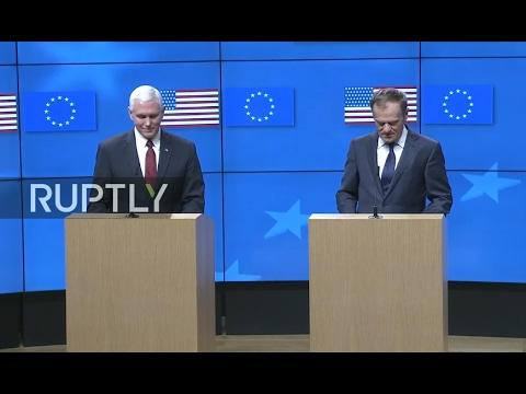 LIVE: Tusk and Pence hold press conference at European Council in Brussels