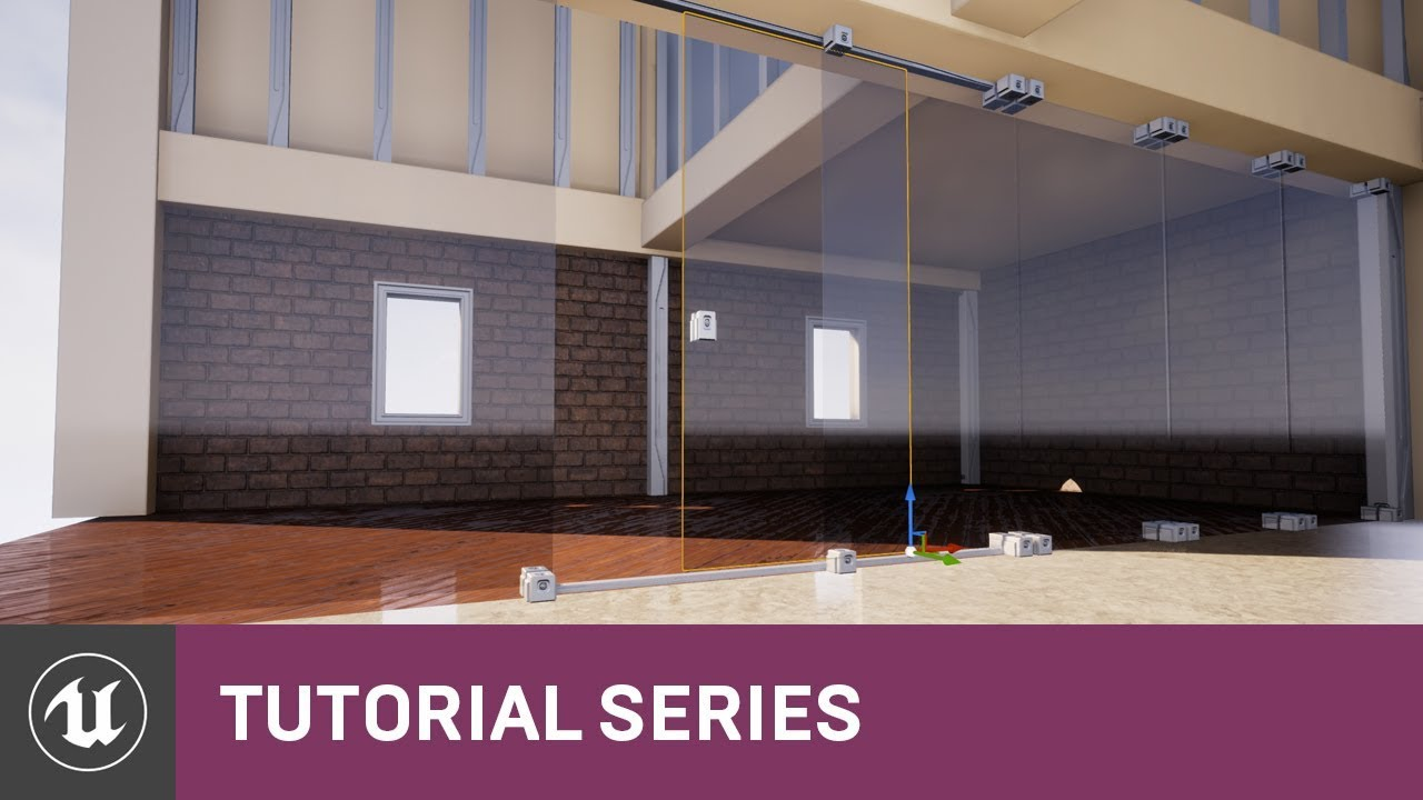 Intro to Level Creation: Setup for the Sliding Door | 08 | v4 7 Tutorial  Series | Unreal Engine