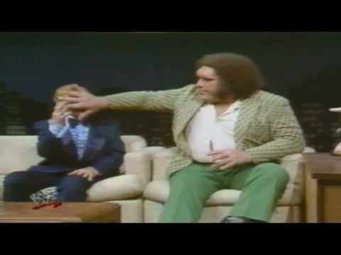 André The Giant's big appetite for food and thirst for alcohol.