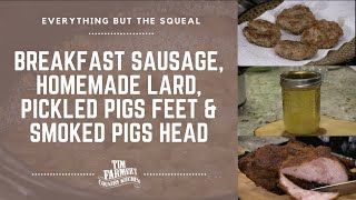 Breakfast Sausage, Lard, Pickled Pigs Feet, Smoked Pig Head & La Caja China Whole Pig (#841)
