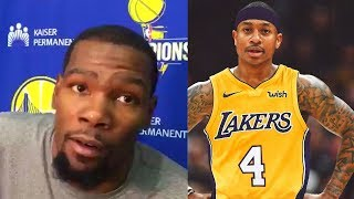 Kevin Durant reacts to Isaiah Thomas Trade to Lakers