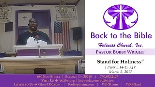 BTTBHC, INC - Stand for Holiness
