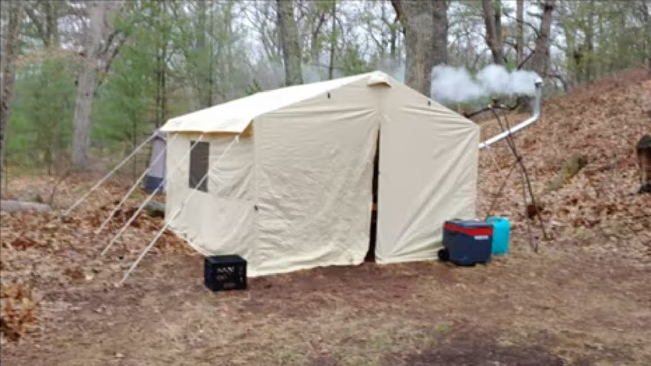 Ozark Trail 12 x 10 wall tent update with stove jack